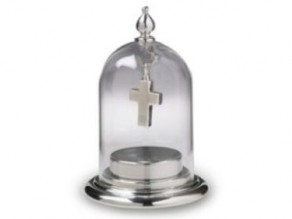 Fillable Pewter Base with Glass Dome Top
