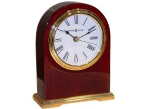 Arched Keepsake Clock - Small capsule behind brass plate